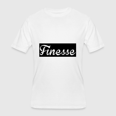 Finesse Clothes Finesse black background supreme logo - Men's 50/50 T-Shirt
