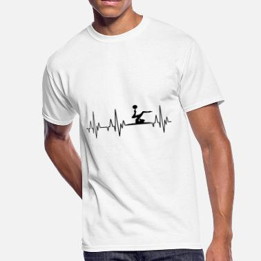 Acrobatic Heartbeat Gymnastics Gymnast Acrobatics Fitness - Men's 50/50 T-Shirt