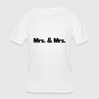 mrs and mrs - Men's 50/50 T-Shirt