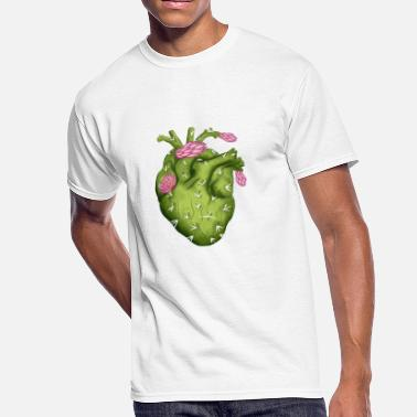 Cactus Heart Blooming Cactus Heart - Men's 50/50 T-Shirt