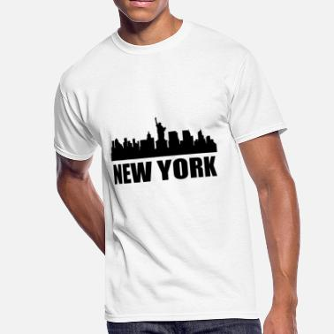 Cityscape New York NY Skyline - Men's 50/50 T-Shirt