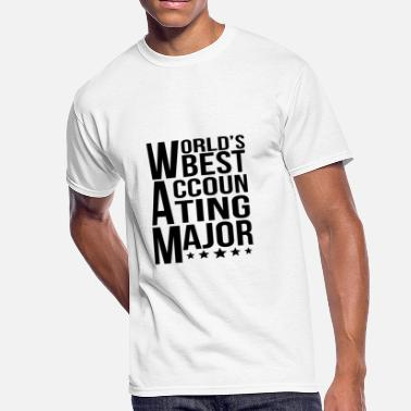 Accounting Major World's Best Accounting Major - Men's 50/50 T-Shirt