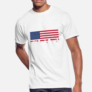 Baltimore Flag Baltimore MD American Flag Skyline - Men's 50/50 T-Shirt