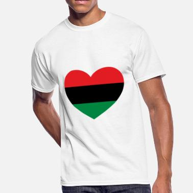 African Symbols Pan-African History Flag Love Heart Symbol - Men's 50/50 T-Shirt