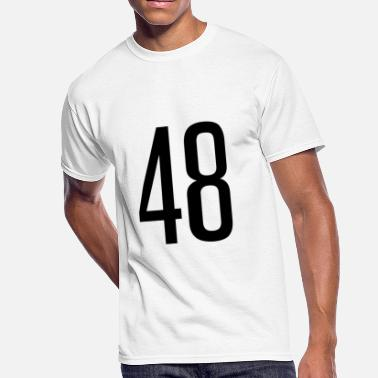 Number 48 Tall number 48 - Men's 50/50 T-Shirt