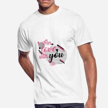 Love You in Love With YOu - Men's 50/50 T-Shirt