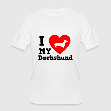 I Love My Dachshund I love my Dachshund - Men's 50/50 T-Shirt