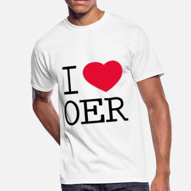 Open Education Week I love OER - Men's 50/50 T-Shirt