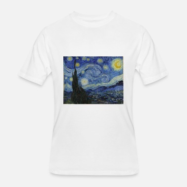 Famous Painting Starry night by Vincent Van Gogh - Men's 50/50 T-Shirt