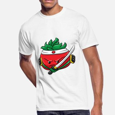 Kids Vegetable Fun Kids Vegetable Design Tomato Ninja Warrior - Men's 50/50 T-Shirt