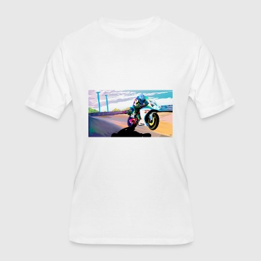 MOTORCYCLE IN MOTION - Men's 50/50 T-Shirt