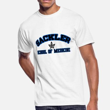 Sackler Sackler SO Medicine Black w/Blue Outline, Bl Logo - Men's 50/50 T-Shirt