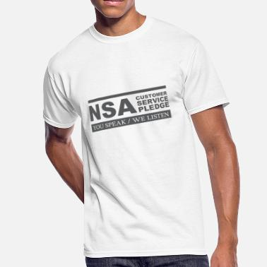 Nsa NSA Customer Service Pledge T Shirt - Men's 50/50 T-Shirt