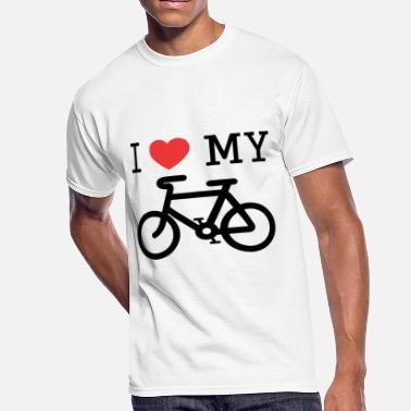 I Love My Bike I Love My Bike - Men's 50/50 T-Shirt