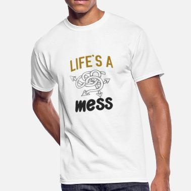 Funny Dog Rock Music Life's a mess 1 - Men's 50/50 T-Shirt