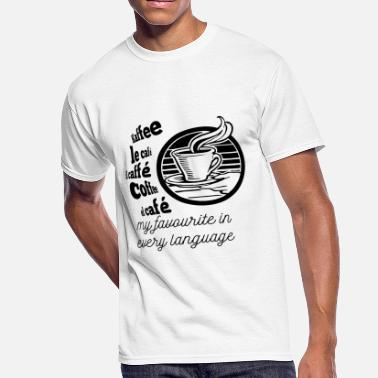 I Love Linguistics I love Coffee in every language - Men's 50/50 T-Shirt