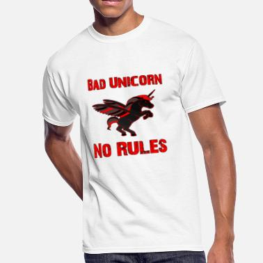 Softies Bad Unicorn - Men's 50/50 T-Shirt