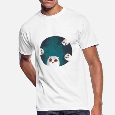 Portrait Mysterious Night Owls - Men's 50/50 T-Shirt
