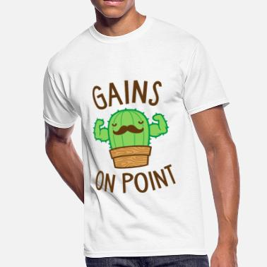 Cactus Puns Are Succulent Gains On Point (Cactus Pun) - Men's 50/50 T-Shirt