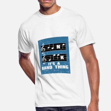 Blue French Horn MUSIC: It's A Band Thing - Men's 50/50 T-Shirt