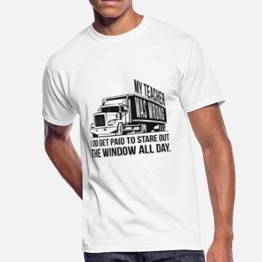 Trucker - Trucker: I get paid to stare out the w - Men's 50/50 T-Shirt