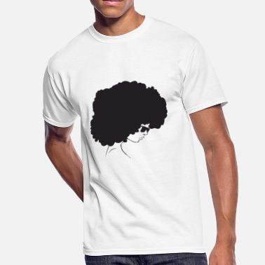 African Woman Afro Black Natural Hair Confident Afro Woman Black Hair Style Natural Confident - Men's 50/50 T-Shirt