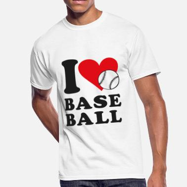 Baseball Love Baseball - I love baseball - Men's 50/50 T-Shirt