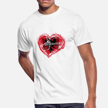 Albania Roots HOME ROOTS COUNTRY GIFT LOVE Albania - Men's 50/50 T-Shirt