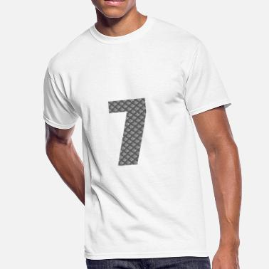 Chinese Lucky Number Lucky Number 7 with Lucky Chinese Character - Men's 50/50 T-Shirt