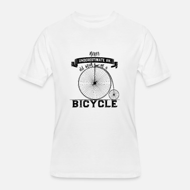 Never Underestimate Old Man With Bicycle Never Underestimate an old man on a Bicycle - Men's 50/50 T-Shirt