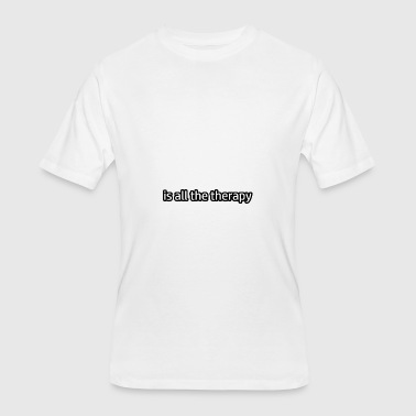 Lawn Bowling is my therapy - Men's 50/50 T-Shirt