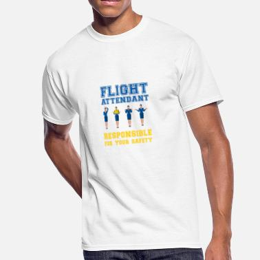 Safety Vest Flight Attendant - Responsible for your safety - Men's 50/50 T-Shirt