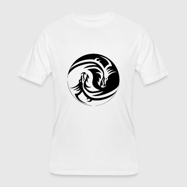 Dragon Yin Yang Dragon Yin Yang - Men's 50/50 T-Shirt