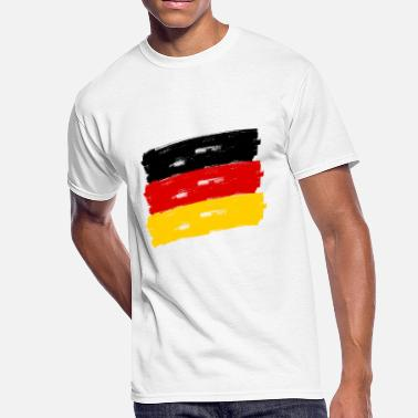 Federal Republic Of Germany Fahne Deutschland handpainted - Men's 50/50 T-Shirt