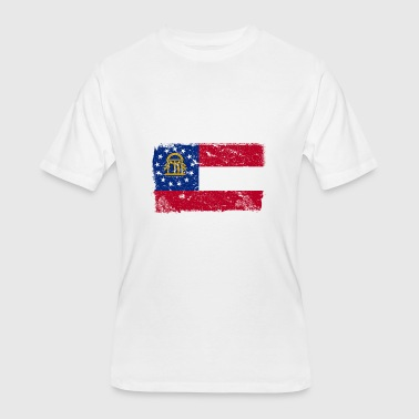Georgia Vintage Flag - Men's 50/50 T-Shirt