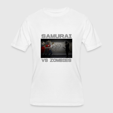 Samurai vs Zombies - Men's 50/50 T-Shirt