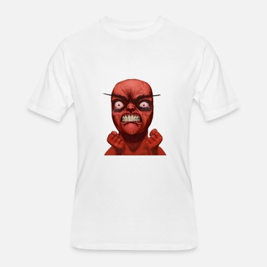 Rage Face Comic Realistic rage meme face - Men's 50/50 T-Shirt