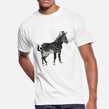 Zebra Stripes Africa Zebra with stripes in Safari - Men's 50/50 T-Shirt