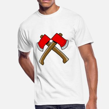 Two Axes - Crossed Axes axe - Men's 50/50 T-Shirt