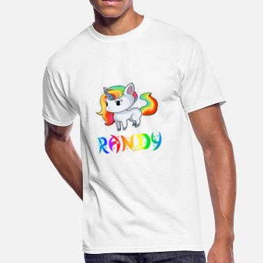 Randi Present Randy Unicorn - Men's 50/50 T-Shirt
