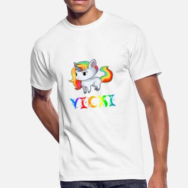 Vicky Vicki Unicorn - Men's 50/50 T-Shirt
