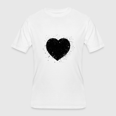 Black Grunge Heart - Men's 50/50 T-Shirt