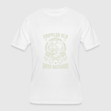 Bastard Girls Crippled Old Biker Bastards T Shirt - Men's 50/50 T-Shirt