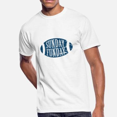 Sunday Funday Football Sunday Funday - Beer And Football Design - Men's 50/50 T-Shirt