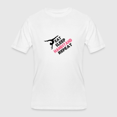 Cutting Gymnast Eat Sleep Handstand Repeat Gymnastics - Men's 50/50 T-Shirt
