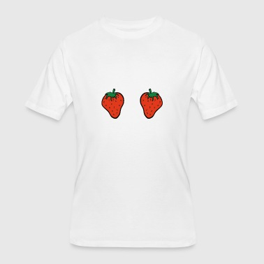 Turk Delicious Strawberry Boobs T-Shirt, Fruit Boobs - Men's 50/50 T-Shirt