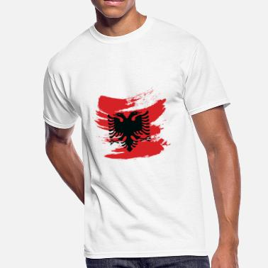 Albanian Kids Albanian Eagle Flag Shirt Gift Albania Red Kosovo - Men's 50/50 T-Shirt