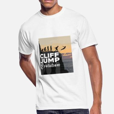 Cliff Diving Cliff Jumping Evolution T-Shirt - Men's 50/50 T-Shirt