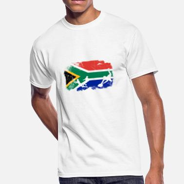 South African Flag South African flag rugby fan T-Shirt - Men's 50/50 T-Shirt