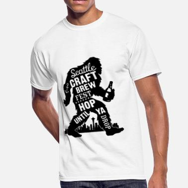 d787a686 Sasquatch Fun Cool Beer - Men's 50/50 T-Shirt